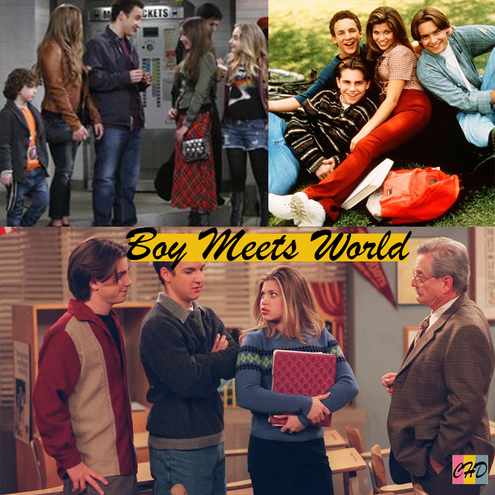 Collage image of Boy Meets World cast