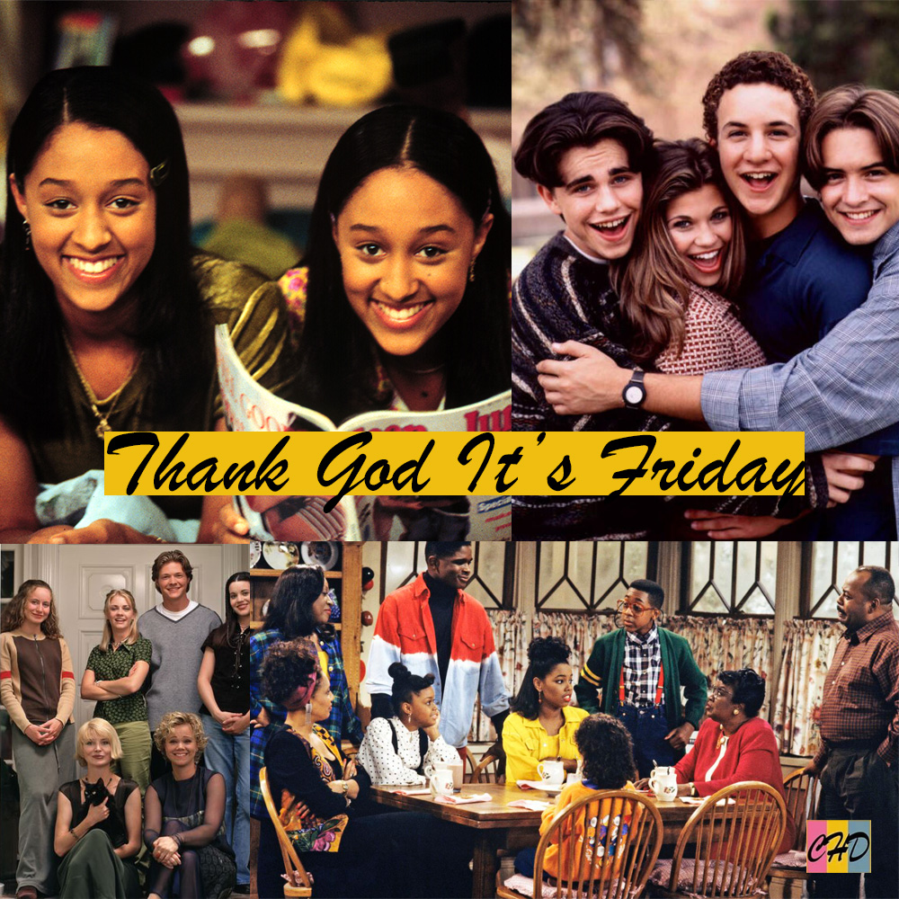 Collage of ABC's TGIF programming. Includes Family Matters, Sabrina the Teenage Witch, Sister, Sister and Boy Meets World